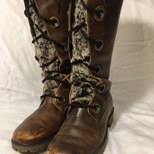 TIMBERLAND SUPER SEXY TALL WINTER LEATHER BOOT!!